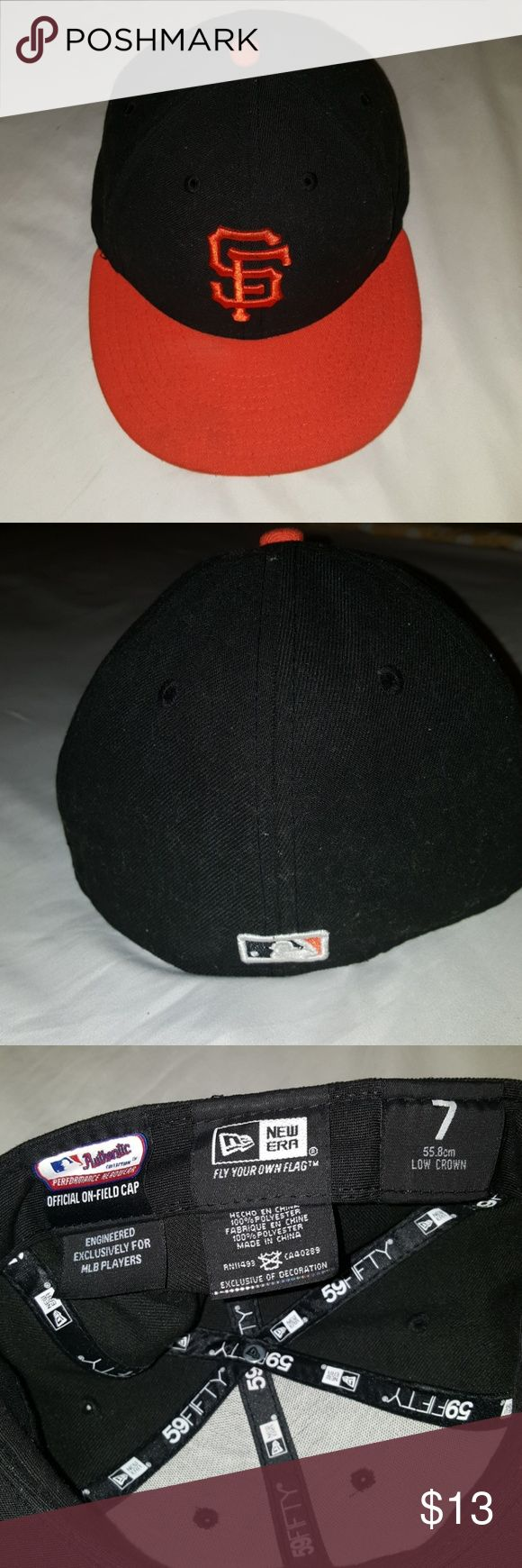 OFFICIAL SF GIANTS CAP Gently used. Official on-field cap New Era Other