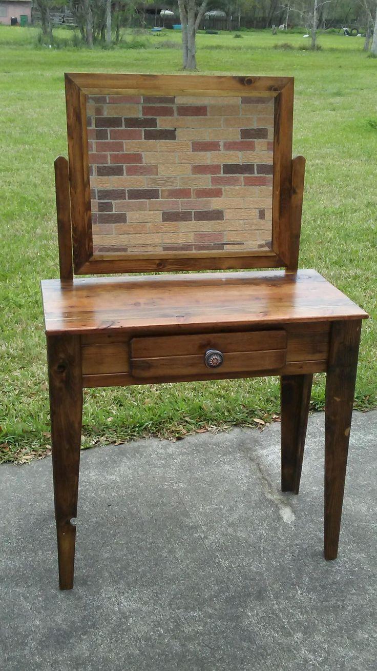 Custom Vanity made from cedar fence pickets