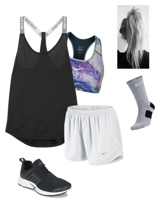 """""""gym ."""" by mallory-d ❤ liked on Polyvore featuring NIKE"""