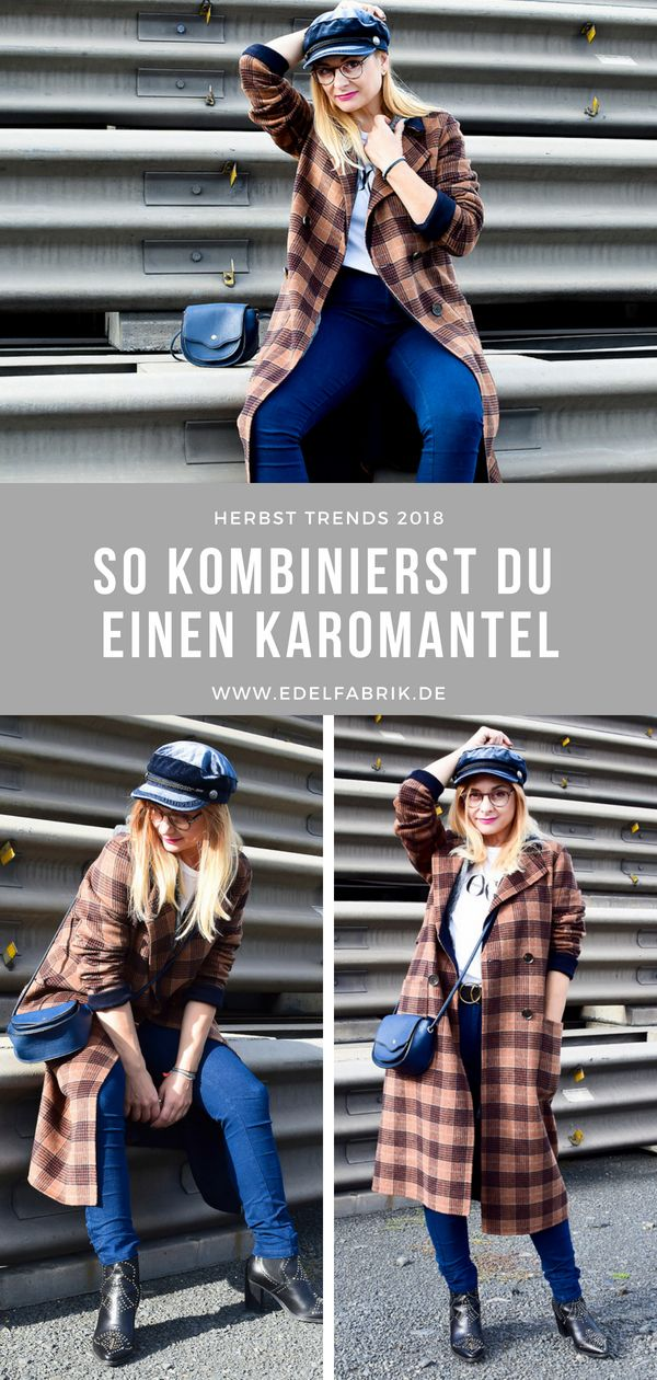 Du Karo einen So Herbst karierten stylst Mantel Mantel nkw80OPX