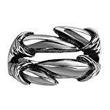 #9: Rockyu ジュエリー ファッションアクセサリー レディース リング メンズ ブランド マヤ アイティーク クラシック 伝統 ストリート 植物 模様 動物 魂 海賊 怪獣 抽象 ステンレス カラー ブラック シルバー 銀 ギフトバッグ提供 指輪 (22)