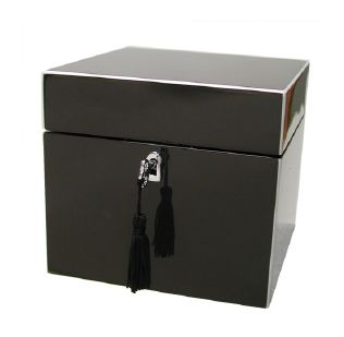 Gun Metal lockable lacquer box