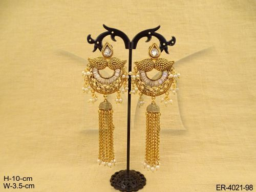CHAND TRIPLE SHAPE PAAN EARRINGS