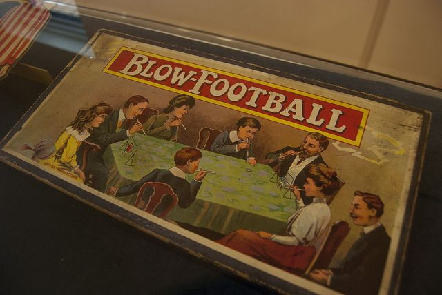 Blow Football Pacakging as seen at the Durham Amateur Football Trust Exhibition at Beamish.    'From Amateur Football to the World Cup' looks at the history of amateur football in the North East - from West Auckland Town winning the first ever 'World C Football promotional products and ideas