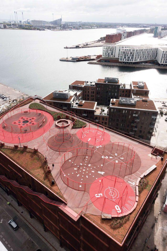 Brilliant, Colorful #Playground on the Roof: JaJa #Architects, Rama Studio, Rasmus Hjortshøj · Park'n'Play