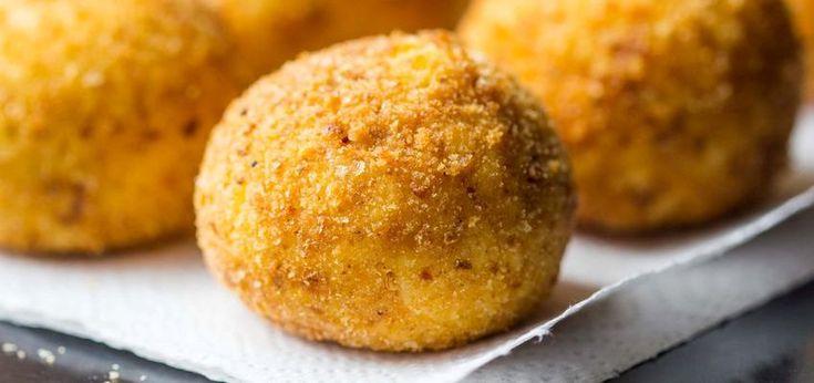 Risottoballetjes (arancini di riso). Ik durfde me nooit zo goed te wagen aan het maken van arancini di riso of risottoballetjes. Het is even een klus maar het resultaat is de moeite waard!
