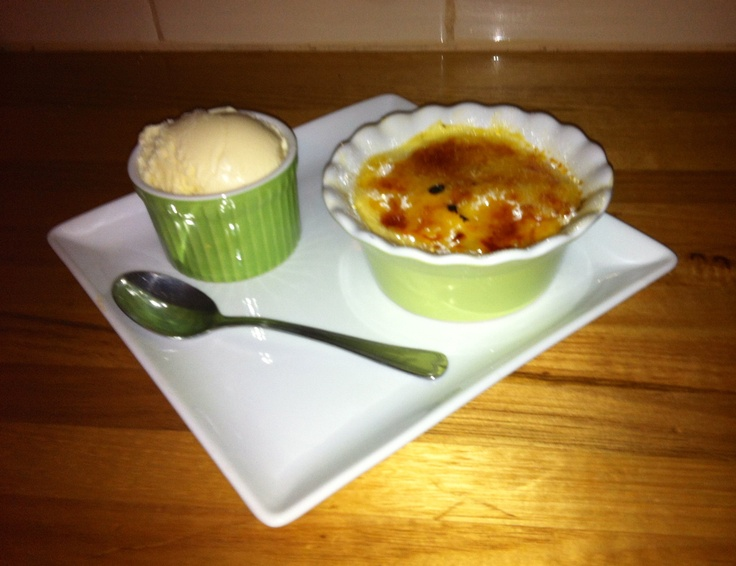 Crema Catalana - we're eating dessert first!