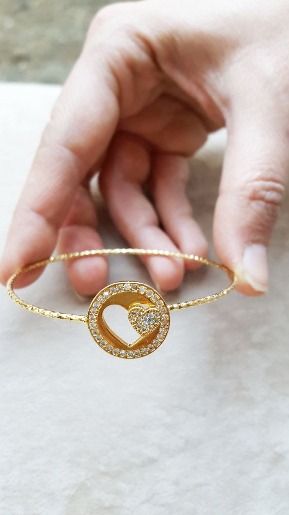 Bracelets //Heart bracelets//mother and daugter/ by appax on Etsy