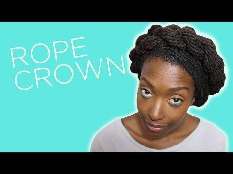 Loc Hairstyle Tutorial: Rope Crown