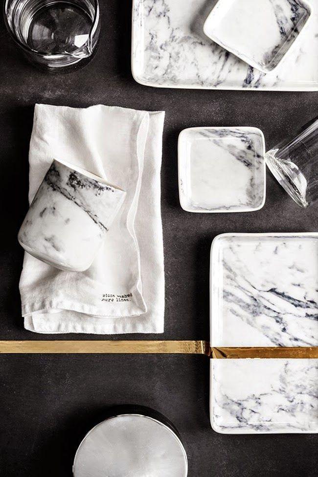 Sammensetning av materialer H&M Home | Marble porcelain