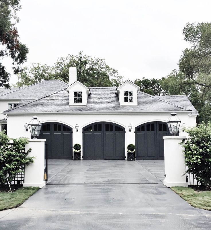Charming Exterior (curved garage doors + colors)