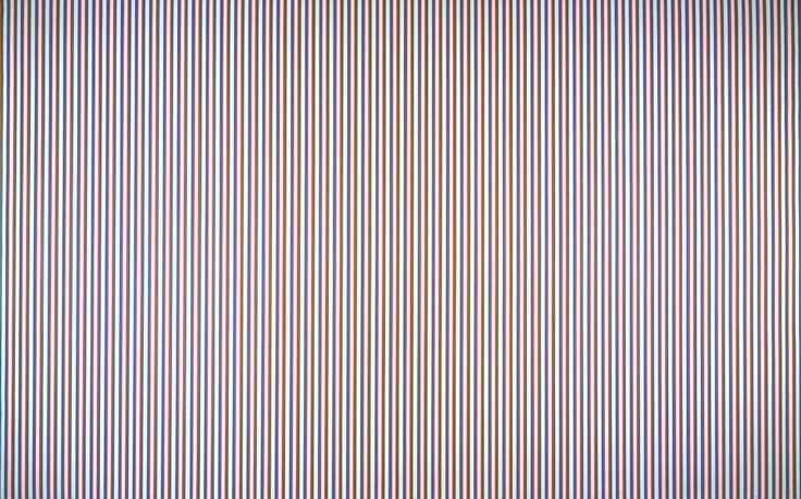 Bridget Riley, 'Late Morning' 1967-8 The straight lines of rationality.