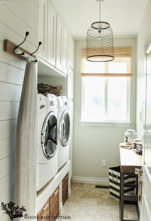For small narrow Laundry Room - raised washer and dryer- don't want to have to buy new w/d- and don't the front load washers end up smelling?