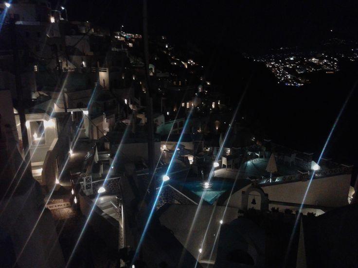 Imerovigli at night