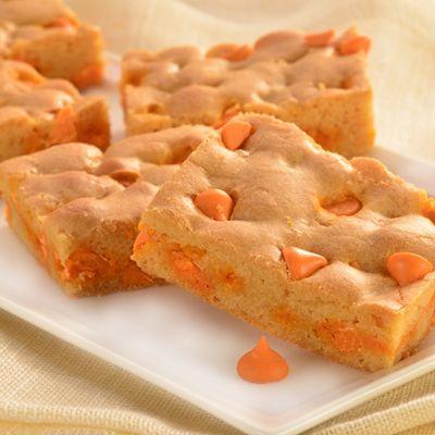 Pumpkin Spice Blondie Cookie Bars