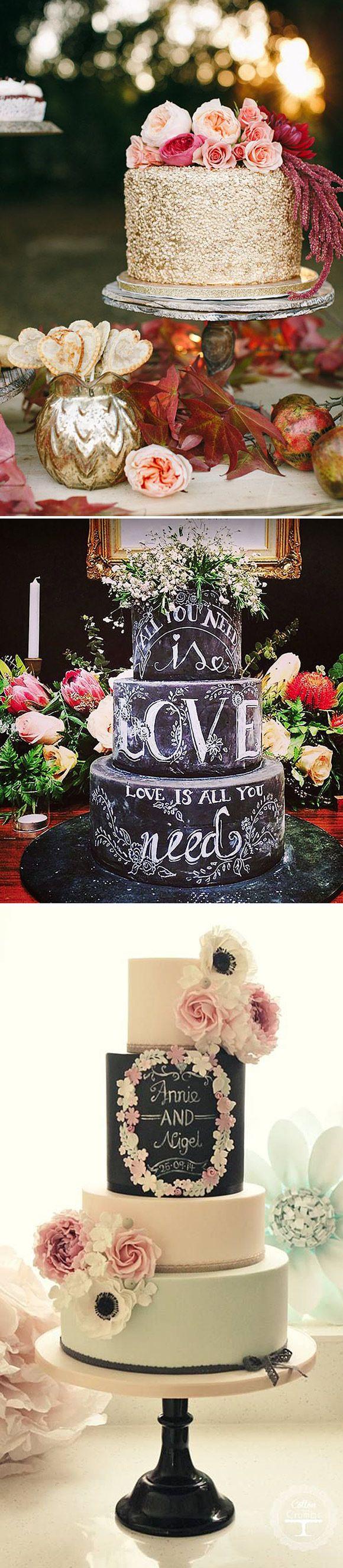La Tarta de Boda PERFECTA. Tartas de bodas personalizadas con efecto pizarra
