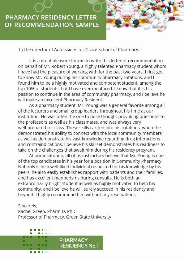 Pharmacy Letter Of Inspirational Pharmacy