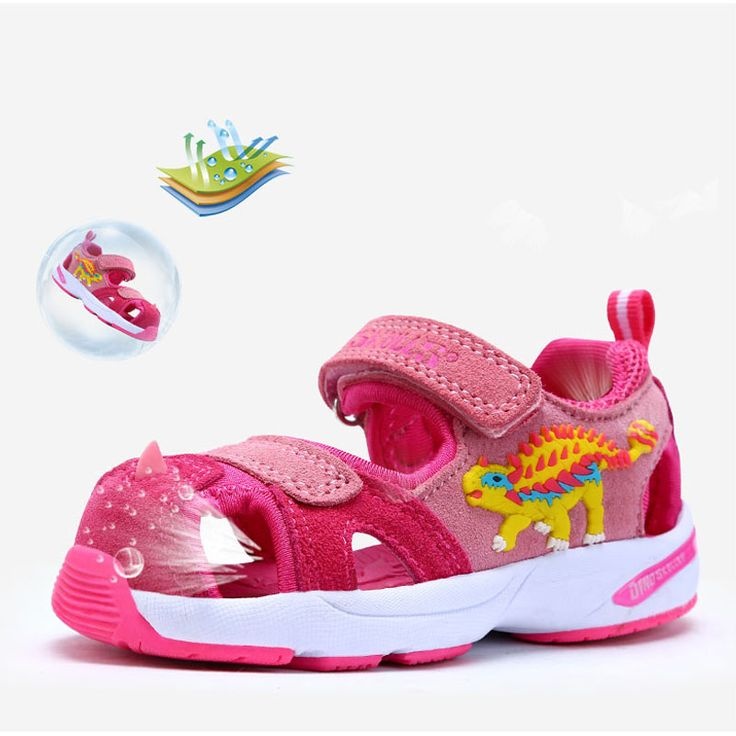 Dinoskulls Brand Summer Beach Kids 3D Dinosaur Sandals Shoes Closed Toe Sandals For Boys And Girls Breathable #Affiliate