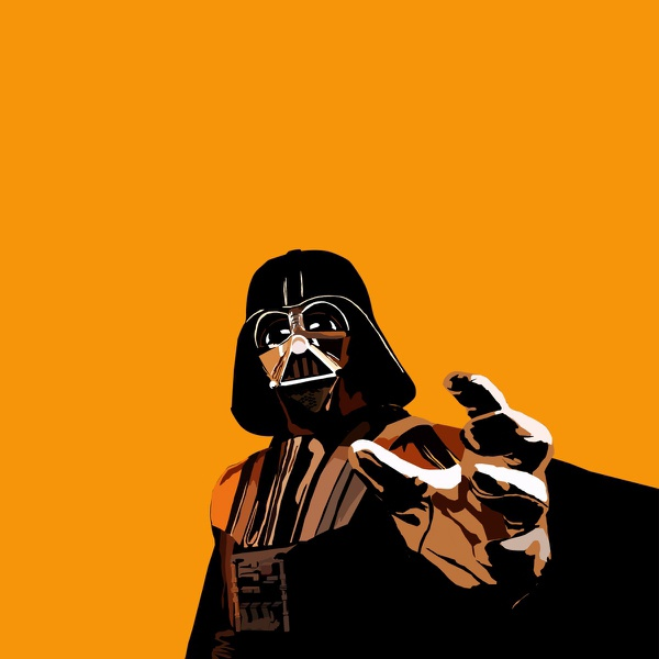 Darth Wader see orange