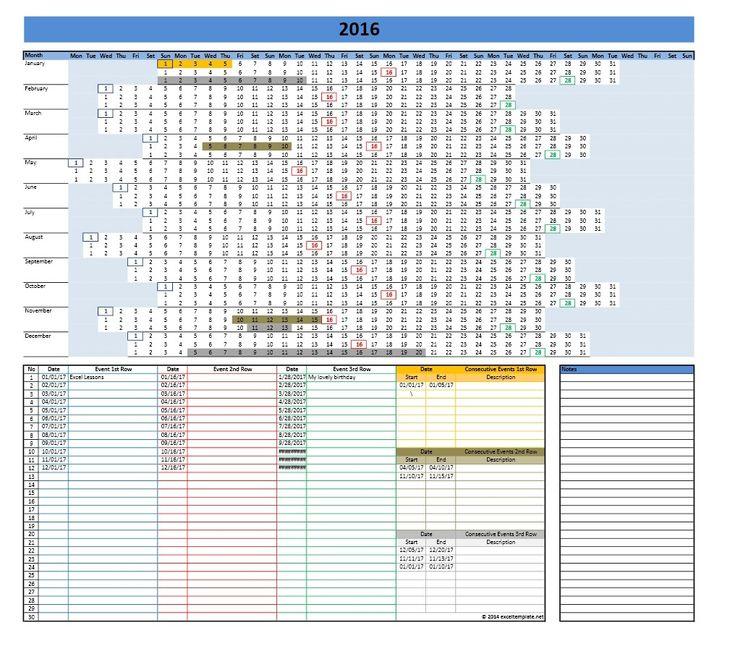 The 25+ best Excel calendar template ideas on Pinterest Excel - attendance calendar template