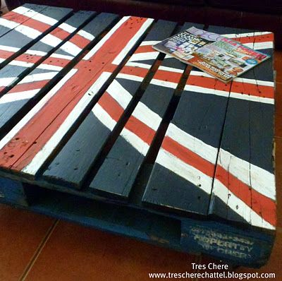 pallet - only with the Canadian flag: Coffee Tables, Unionjack, Coff Tables, Pallets Tables, Pallets Ideas, Jack O'Connel, Wood Pallets, Pallets Projects, Union Jack