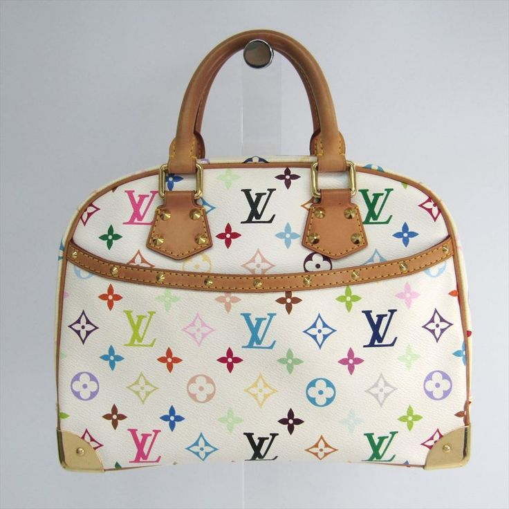 #louisvuitton Monogram Multicolore Trouville M92663 Women's Handbag Blanc