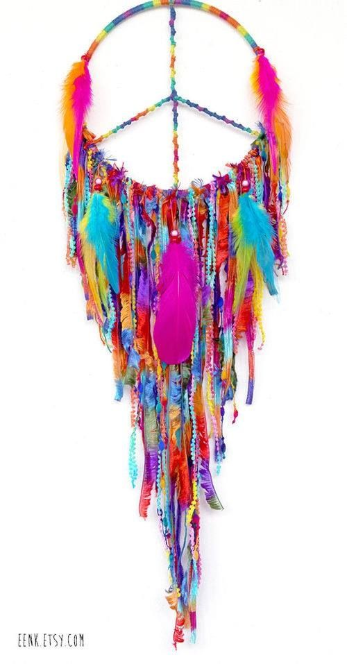 Peaceful Pow Wow Large Native Style Woven Dreamcatcher