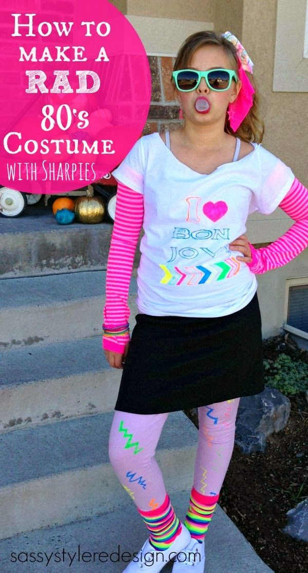 Sassy Style: How to make a rad 80's Halloween costume