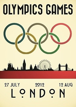 betweenthewoodsandthewater:    I'm pretty un-excited about the Olympics thus far but I do like this poster.