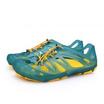 Green Mens Summer Aqua Shoes