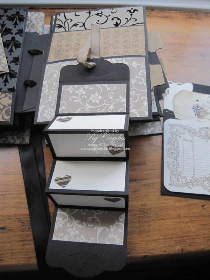 Stampin Up UK Demonstrator UK Pegcraftalot Order Stampin Up HERE: Mocha Morning envelope Mini Album cont'd