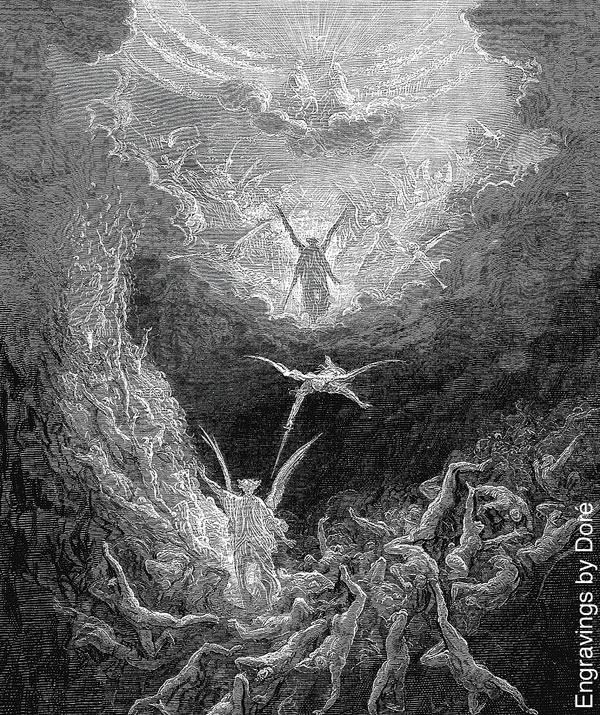 """Engraving of """"The Last Judgement"""" by Gustave Doré"""