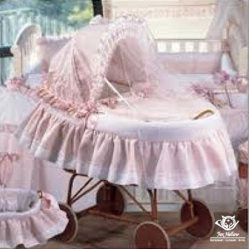 Classic #PinkBassinet for your #BabyGirl.  Easy to move around so you do not disturb your little one while they sleep