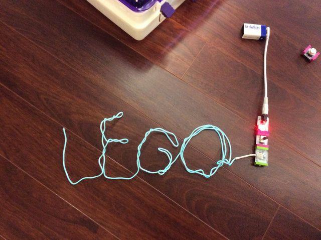 Littlebits의 첫번째 작품 (made by donald) - LED line을 활용해서 글자 만들기