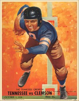 Tennessee Volunteers Football 1938 Vintage Program Cover Reprint