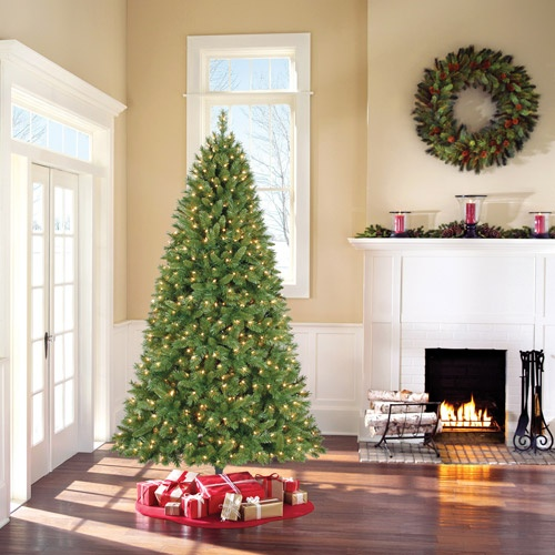 holiday time pre lit 75 kennedy fir artificial christmas tree clear lights - Holiday Time Christmas Tree