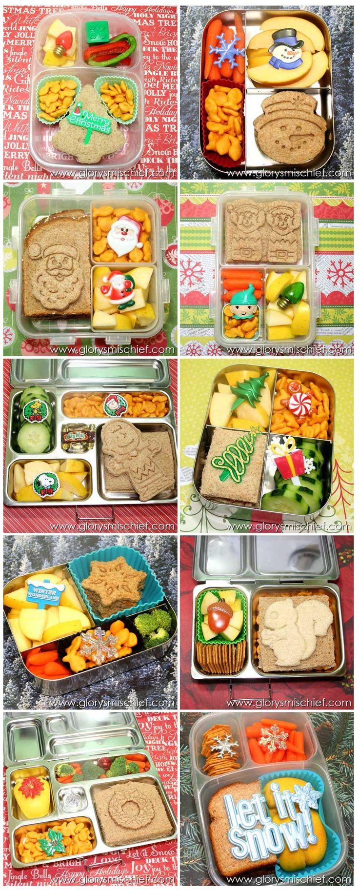 Kids Christmas Bento School Lunch - Healthy Ideas From GlorysMischief.com