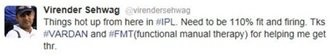 Virender Sehwag's tweeted about us. Do we really need brand ambassadors, after this tweet? :)  Call us to schedule an appointment +91 11 43580720-22