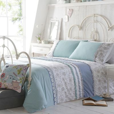 At home with Ashley Thomas Light turquoise 'Lorna' bedding set- at Debenhams.com