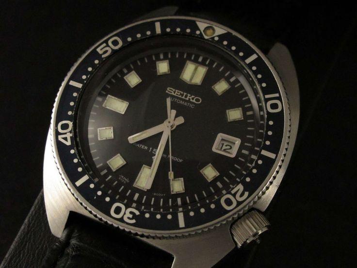 SUPER RARE VINTAGE SEIKO 6105-8000 Diver 150m Automatic ...