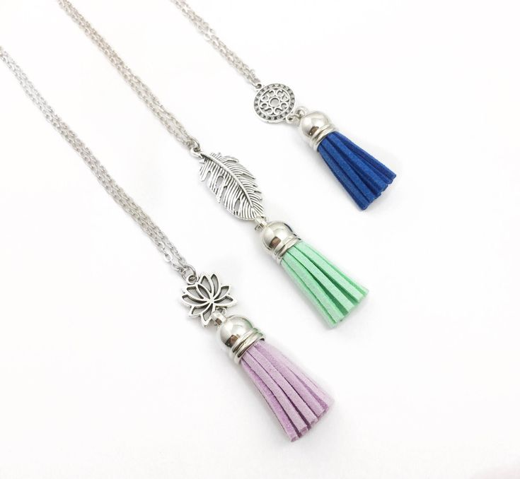 Excited to share the latest addition to my #etsy shop: Vegan Suede Tassel Diffuser Necklace, Tassel Charm Essential Oil Diffuser Necklace, Tassel Aromatherapy Necklace, Gift for Her
