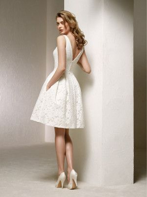 Vestido Novia Boda Civil Colección 2018 Pronovias Short Wedding Dress Civil Wedding Dresses Rehersal Dress