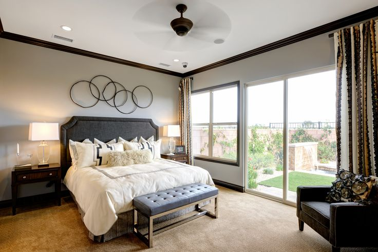 A simple yet elegant master bedroom found in the Incantere model.