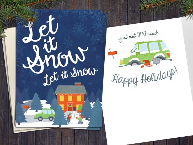 Let It Snow Just Not THAT Much - Funny Christmas Card Pack - Humor Holiday Clever Sarcastic Hanukkah Greeting Card - Happy Holidays by PowerSnowDesigns on Etsy https://www.etsy.com/listing/259215068/let-it-snow-just-not-that-much-funny