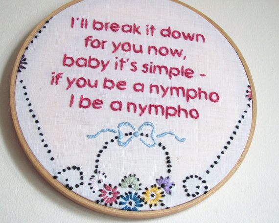 Enjoy These Demurely Cross-Stitched Rap Lyrics