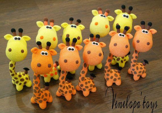 Amigurumi Giraffe Haken : 25+ beste idee?n over Gehaakte giraf patroon op Pinterest ...