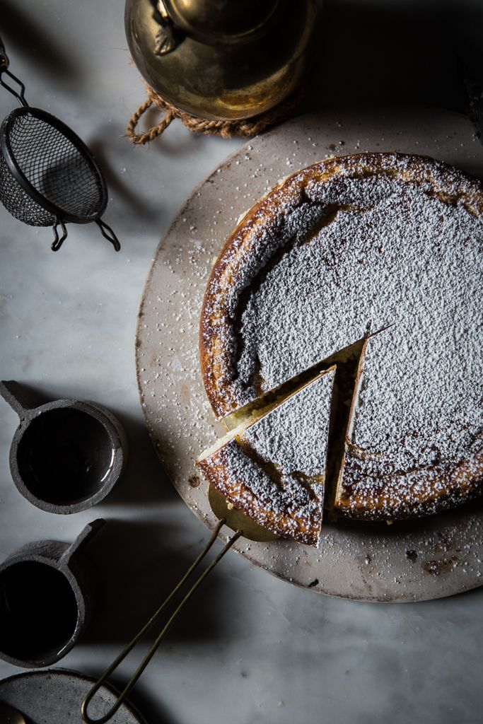 White Chocolate Ricotta Cheesecake with Lemon, Cardamom, and Nutmeg | Recipe Photography Styling by Beth Kirby of Local Milk | New Thanksgiving Classic