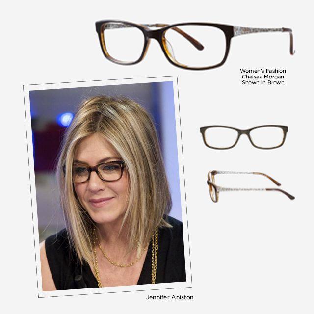 Eyeglasses Frames Try On : Davis Vision - Jennifer Anistons glasses frame her face ...