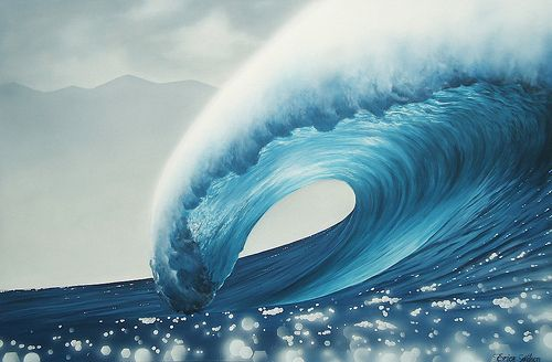 Wavy: Ocean Waves Beach Water Surf, Nature, Surfing, Art, Beautiful Places, Beautiful Waves, Sea, Painting, Photography
