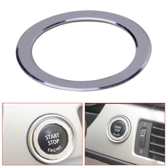 DWCX Car Key Engine Start Ignition Button Cover Trim Ring Decoration